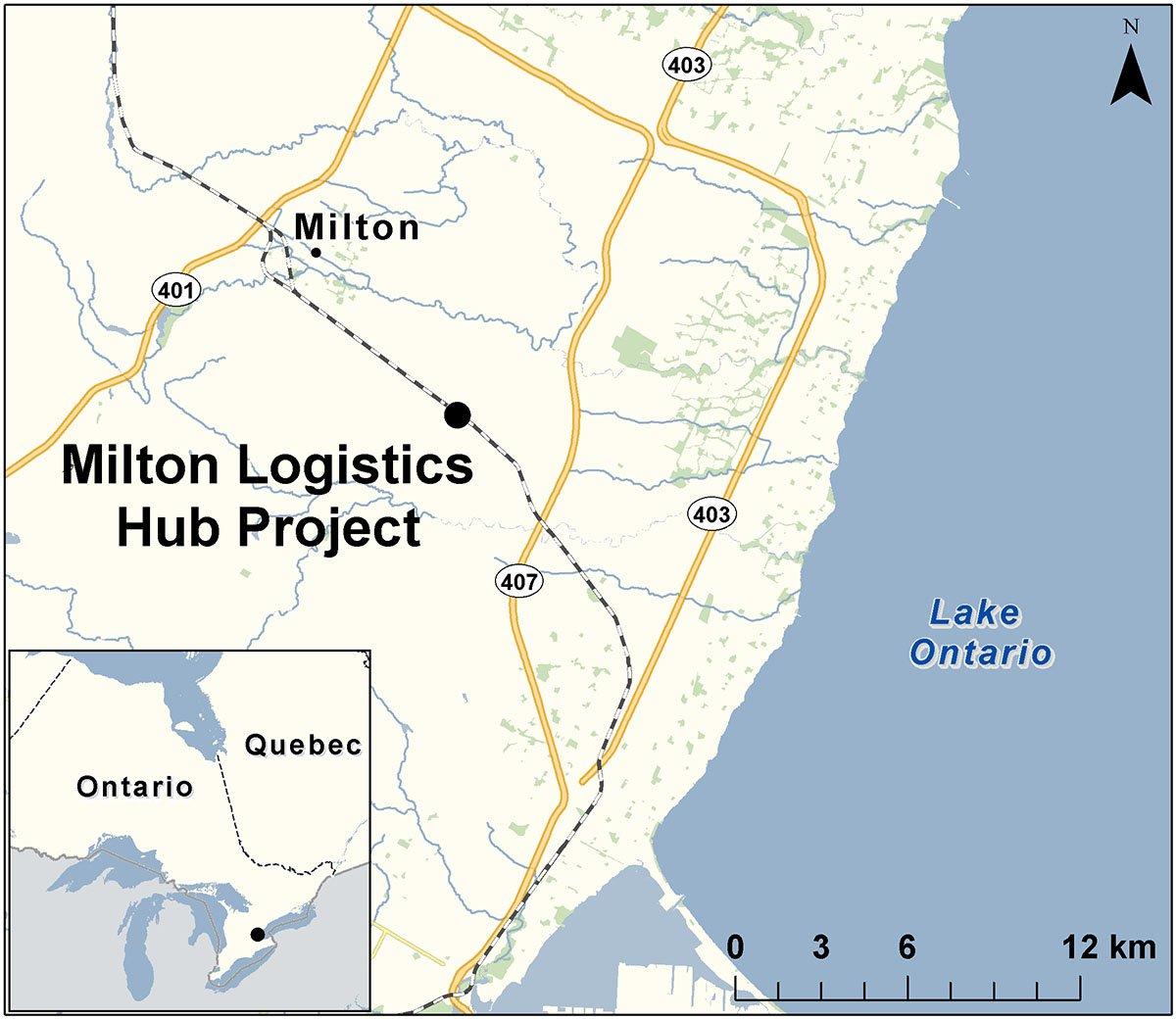 CN truck-rail hub proposal map