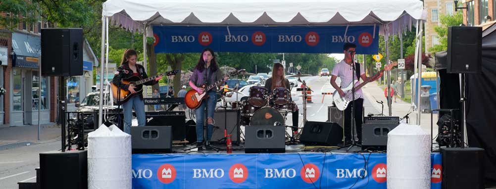 Bank of Montreal BMO Community Stage at the Downtown Milton Street Festival