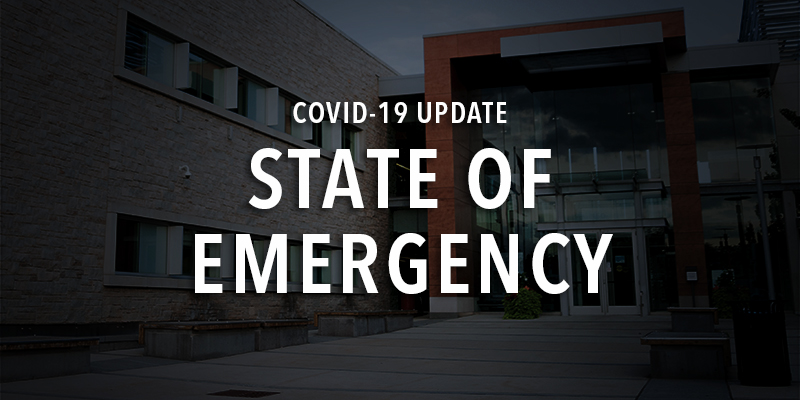 coivd state of emergency image