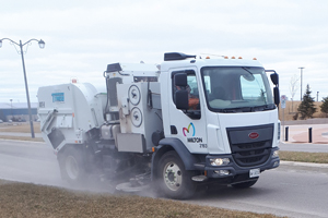 photo of a street sweeper