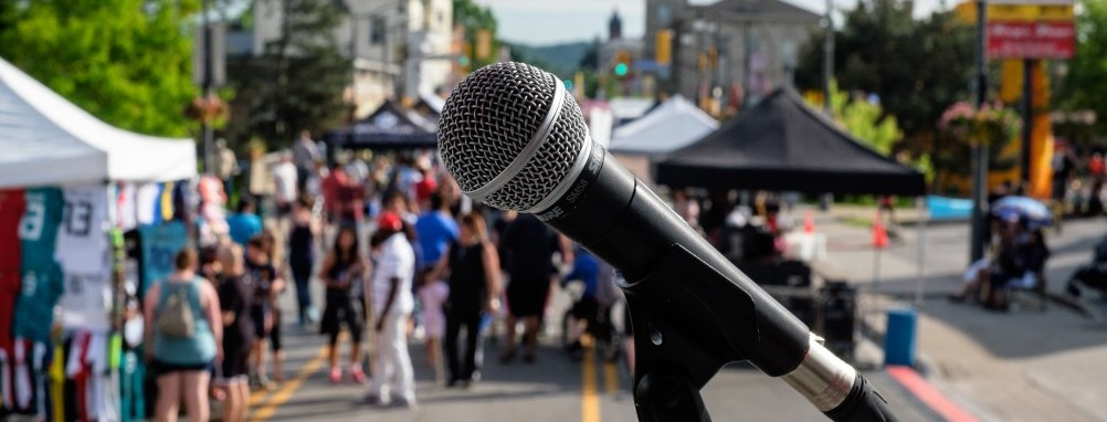 Microphone at Street Festival