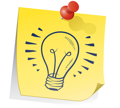 picture of an idea light bulb